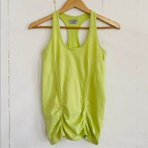 Athleta Fastest Track Lime Green Tank Top